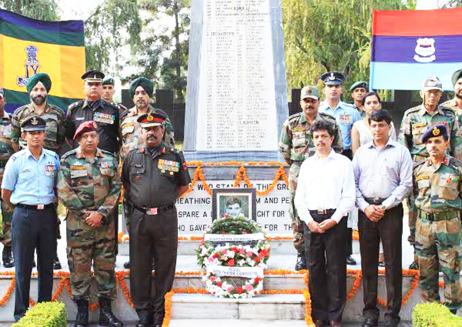 The Tribute at the Akhnoor War Memorial.