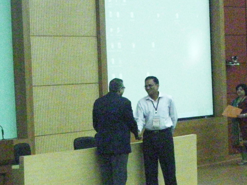 Capt Louis George being conferred the DSA from IIT, Mumbai